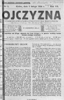 Ojczyzna : tygodnik oświatowo-społeczny dla wszystkich, 1924, nr 5