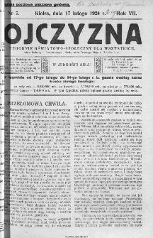 Ojczyzna : tygodnik oświatowo-społeczny dla wszystkich, 1924, nr 7