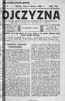 Ojczyzna : tygodnik oświatowo-społeczny dla wszystkich, 1924, nr 9