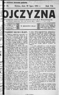 Ojczyzna : tygodnik oświatowo-społeczny dla wszystkich, 1924, nr 29