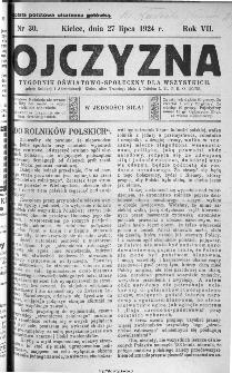 Ojczyzna : tygodnik oświatowo-społeczny dla wszystkich, 1924, nr 30