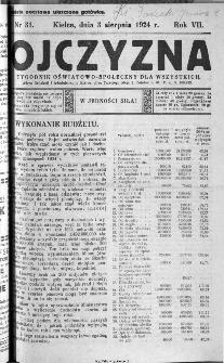 Ojczyzna : tygodnik oświatowo-społeczny dla wszystkich, 1924, nr 31