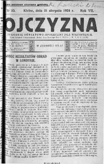 Ojczyzna : tygodnik oświatowo-społeczny dla wszystkich, 1924, nr 35