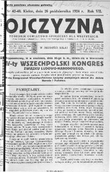 Ojczyzna : tygodnik oświatowo-społeczny dla wszystkich, 1924, nr 42-43