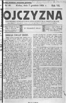 Ojczyzna : tygodnik oświatowo-społeczny dla wszystkich, 1924, nr 49