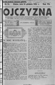 Ojczyzna : tygodnik oświatowo-społeczny dla wszystkich, 1924, nr 51