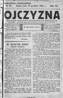 Ojczyzna : tygodnik oświatowo-społeczny dla wszystkich, 1924, nr 52