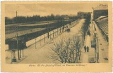 Kielce. Ulica Fr. Józefa (Widok na dworzec kolejowy).