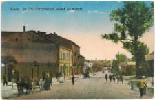 Kielce. Ulica Starowarszawska, widok ku miastu.
