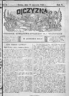 Ojczyzna : tygodnik oświatowo-społeczny dla wszystkich, 1922, nr 3