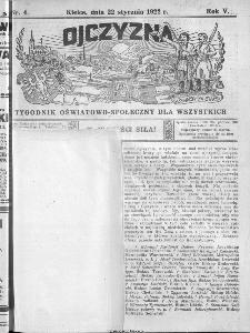 Ojczyzna : tygodnik oświatowo-społeczny dla wszystkich, 1922, nr 4