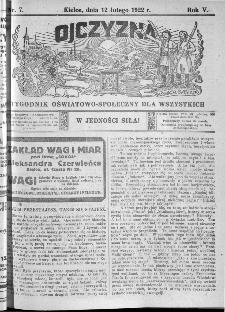 Ojczyzna : tygodnik oświatowo-społeczny dla wszystkich, 1922, nr 7