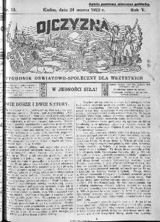 Ojczyzna : tygodnik oświatowo-społeczny dla wszystkich, 1922, nr 13
