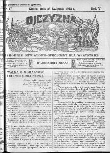 Ojczyzna : tygodnik oświatowo-społeczny dla wszystkich, 1922, nr 17