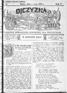 Ojczyzna : tygodnik oświatowo-społeczny dla wszystkich, 1922, nr 19