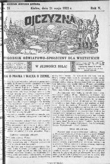 Ojczyzna : tygodnik oświatowo-społeczny dla wszystkich, 1922, nr 21