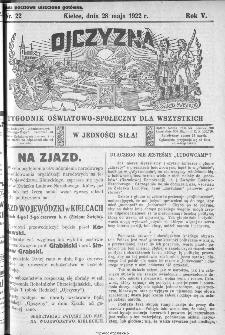 Ojczyzna : tygodnik oświatowo-społeczny dla wszystkich, 1922, nr 22