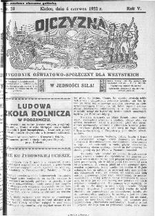 Ojczyzna : tygodnik oświatowo-społeczny dla wszystkich, 1922, nr 23