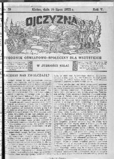 Ojczyzna : tygodnik oświatowo-społeczny dla wszystkich, 1922, nr 29