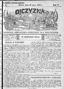 Ojczyzna : tygodnik oświatowo-społeczny dla wszystkich, 1922, nr 31