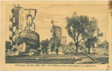 Królestwo Polskie rok 1914-16, ruiny wieży wodociągowej w Sędziszowie.