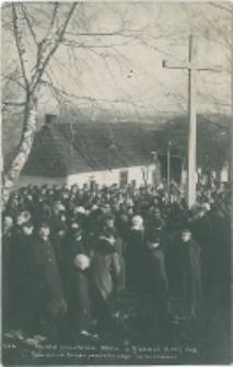 Obchód powstania 1863 r. w Kielcach d 23.I.1916. Poświęcenie Krzyża pamiątkowego na Karczówce.