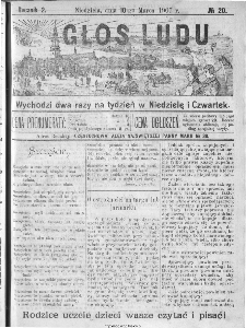 Głos Ludu, 1907, nr 20