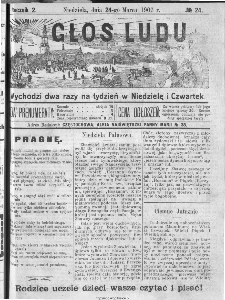 Głos Ludu, 1907, nr 24