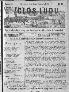 Głos Ludu, 1907, nr 32