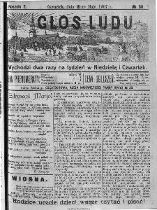 Głos Ludu, 1907, nr 38