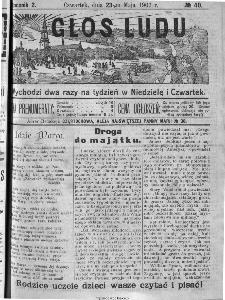 Głos Ludu, 1907, nr 40