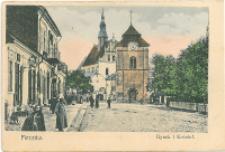 Pińczów. Rynek i Kościół.