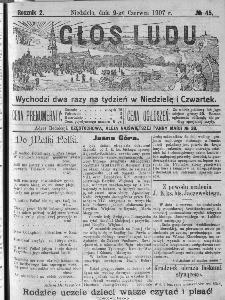 Głos Ludu, 1907, nr 45