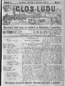 Głos Ludu, 1907, nr 47
