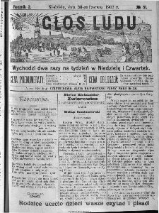 Głos Ludu, 1907, nr 51