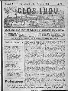 Głos Ludu, 1907, nr 70