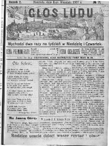Głos Ludu, 1907, nr 71