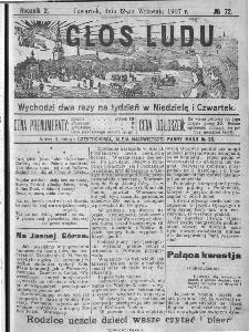 Głos Ludu, 1907, nr 72