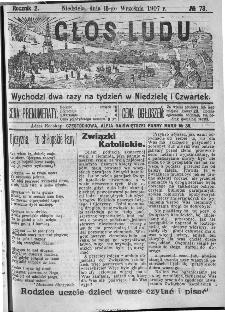 Głos Ludu, 1907, nr 73