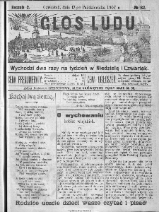 Głos Ludu, 1907, nr 82