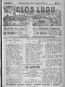 Głos Ludu, 1907, nr 91