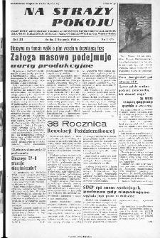 Na Straży Pokoju : organ Komitetu Fabrycznego Polskiej Zjednoczonej Partii Robotniczej, Rady Zakładowej, Dyrekcji i Zarządu ZMP Zakładów Metalowych im. gen. Waltera, Radom, 1955, nr 5