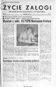 Życie Załogi : organ Samorządu Robotniczego Zakładów Metalowych im. Gen. Waltera w Radomiu, 1959, nr 9