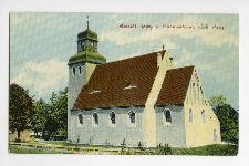 Kościół nowy w Chomentowie, obok stary.