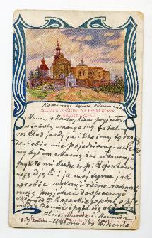 Widok klasztoru na Łysej Górze