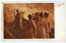 """H. Sienkiewicz: """"Quo Vadis"""" : Nero śpiewa przy blaskach płonącego Rzymu"""