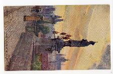 Praha. Socha sv. Jana na Karlově mostě.
