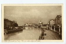 Wien. Donaukanal mit Urania und Aspernbrücke.