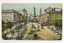 Wien Praterstern und Tegetthof-Denkmal