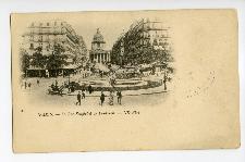 Paris. La Rue Soufflot, Le Pantheon.